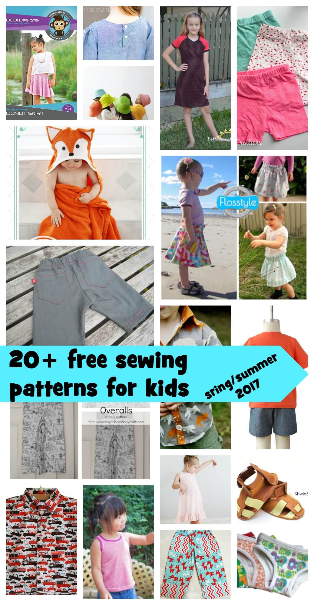 free sewing patterns for kids spring/summer 2017 from Nap-Time Creations