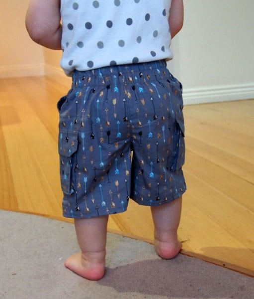 boys cargo shorts pattern from Life Sew Savory