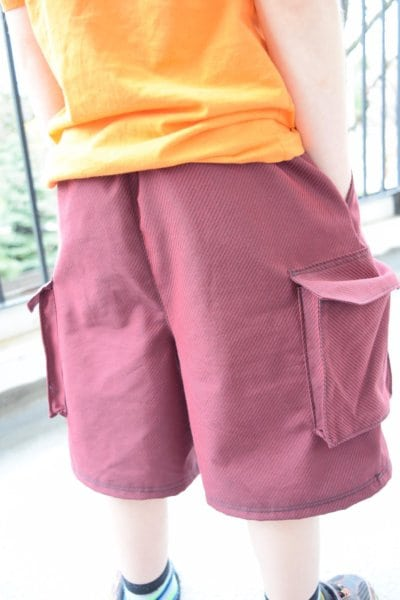 Boys cargo shorts pattern 12m - 8Y