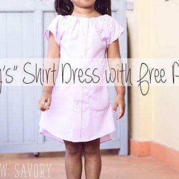 Daddy's-shirt-dress-free-pattern