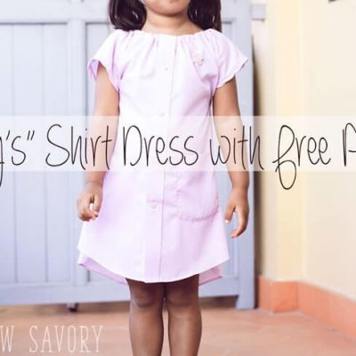 Daddy's Shirt Dress with Free Pattern