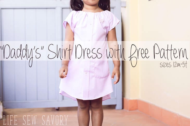 Daddy's-shirt-dress-free-pattern