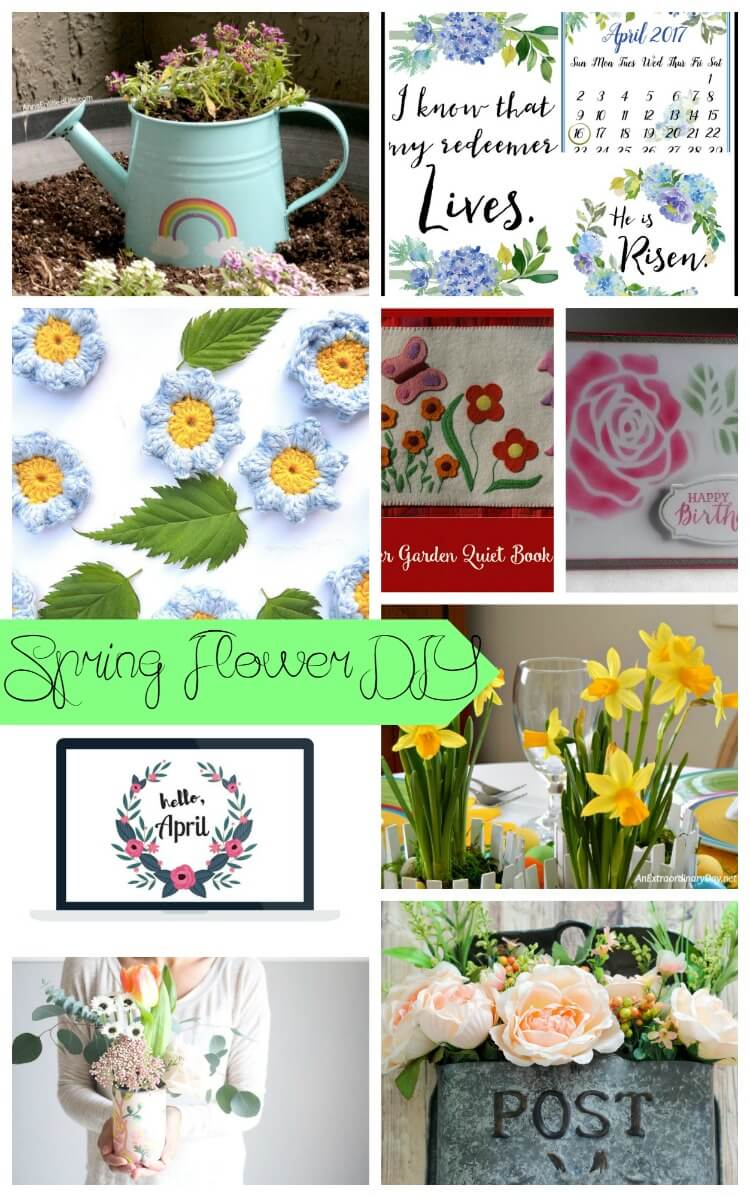 Spring Flower DIYs, projects and tutorials from Life Sew Savory