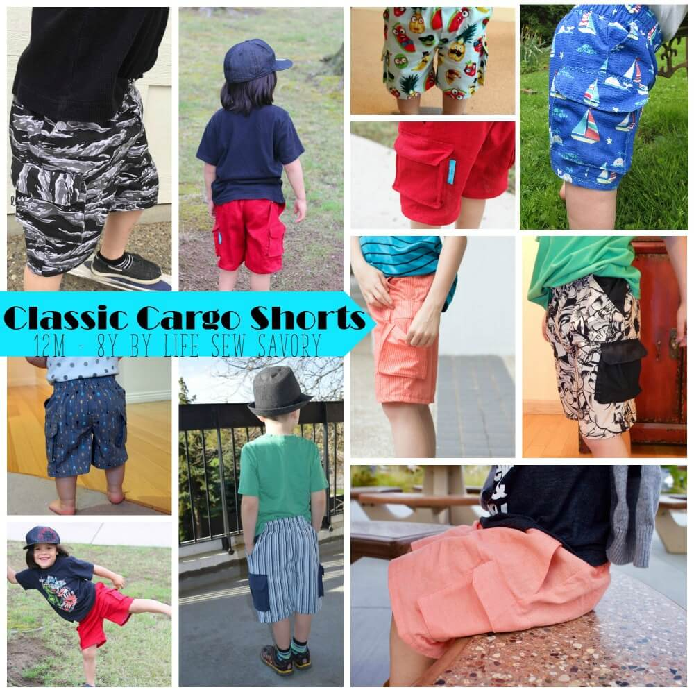 Boys Classic Cargo Shorts Pattern