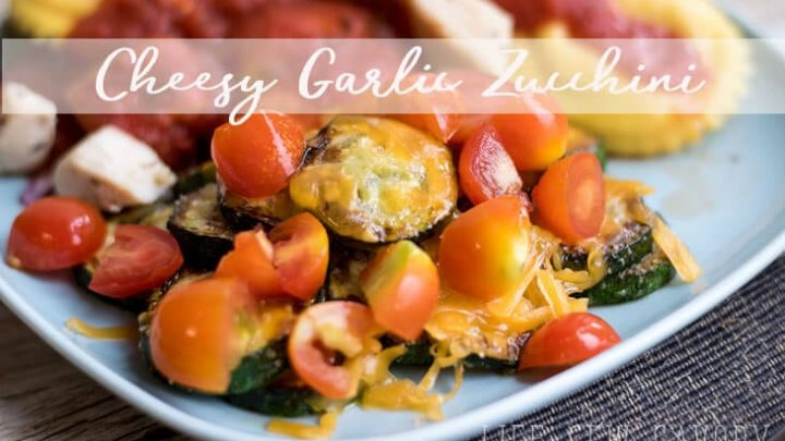 Cheesy Garlic Zucchini Recipe