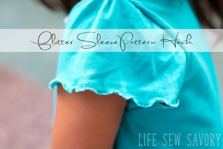 Flutter Sleeves Tutorial and Pattern Hack