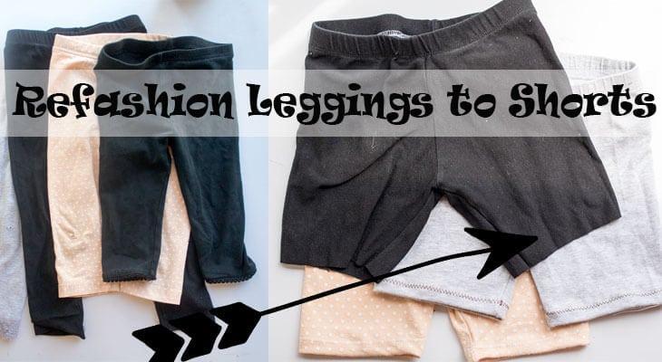 Refashion leggings to Summer Shorts