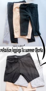 refashion leggings to summer short from Life Sew Savory