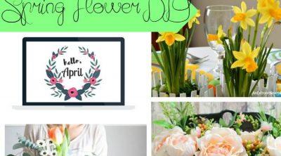 spring flower DIYs social