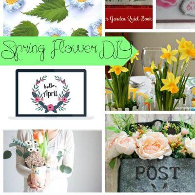 Spring Flower DIYs & Create Link Inspire Party