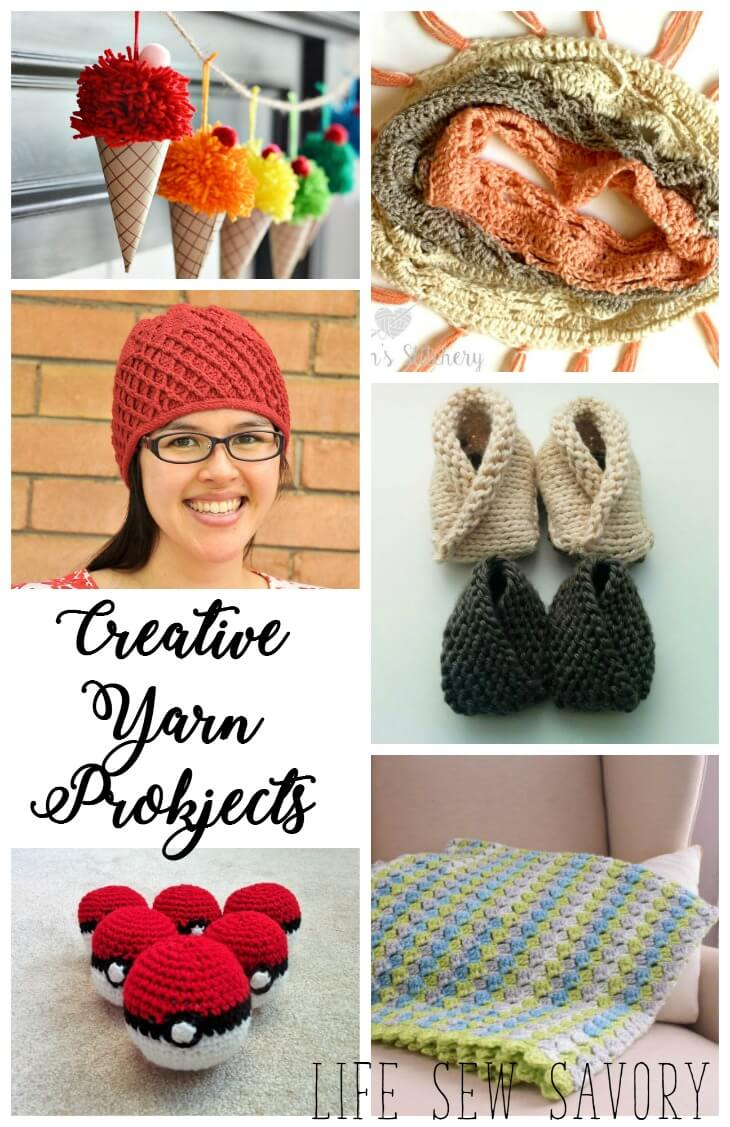 Creative Yarn Projects- knit and crochet pattern inspiration from Life Sew Savory