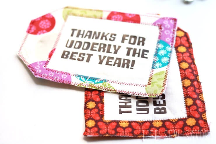 End of Year Teacher Gifts - Fabric-Gift-Tag-with udderly smooth