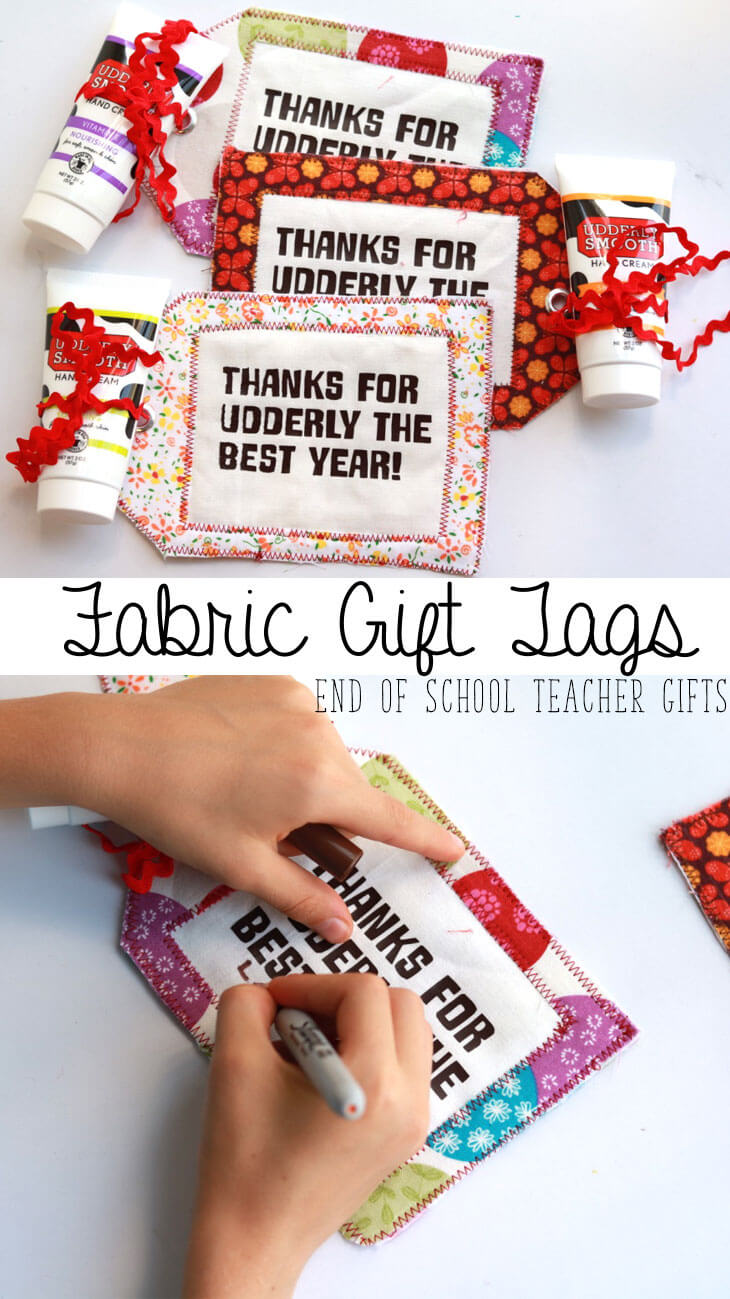 End of Year Teacher Gifts - Fabric-Gift-Tag--Teacher-gift-by-Life-Sew-Savory