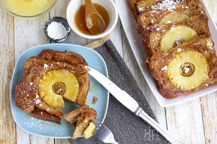 pineapple french toast for breakfast