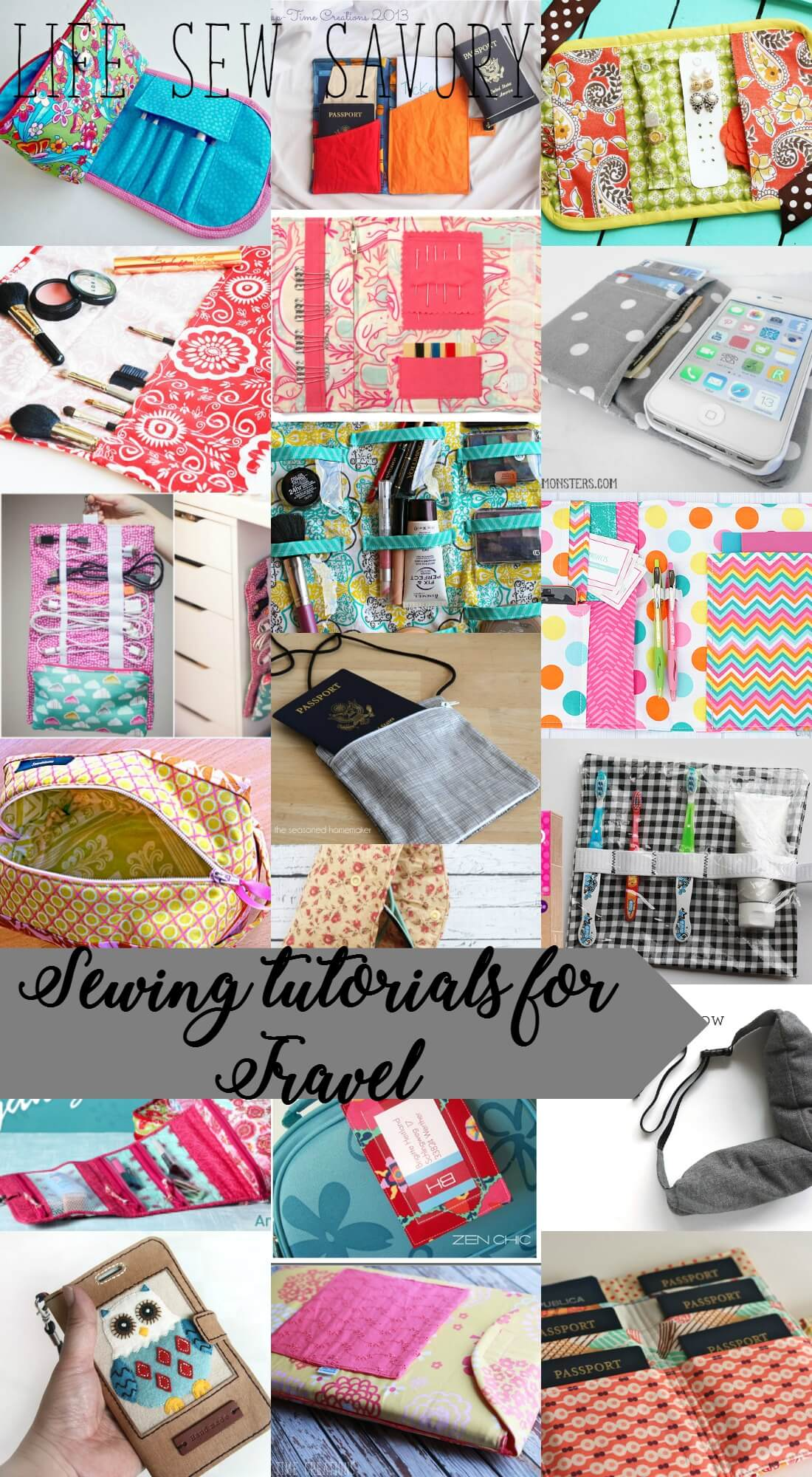Sewing tutorials for travel from Life Sew Savory