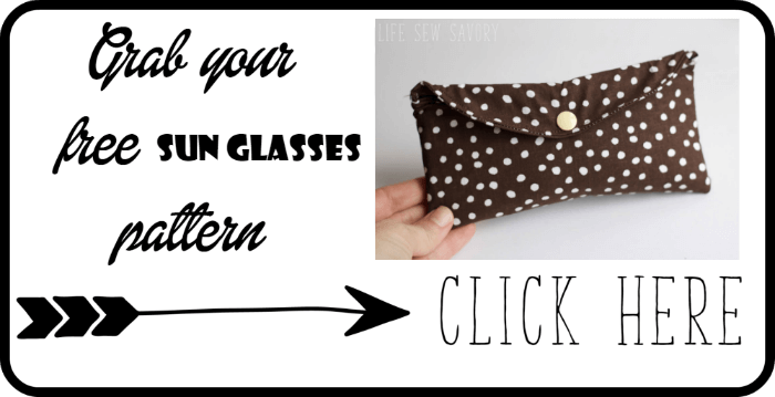 glasses case sewing tutorial with free pattern