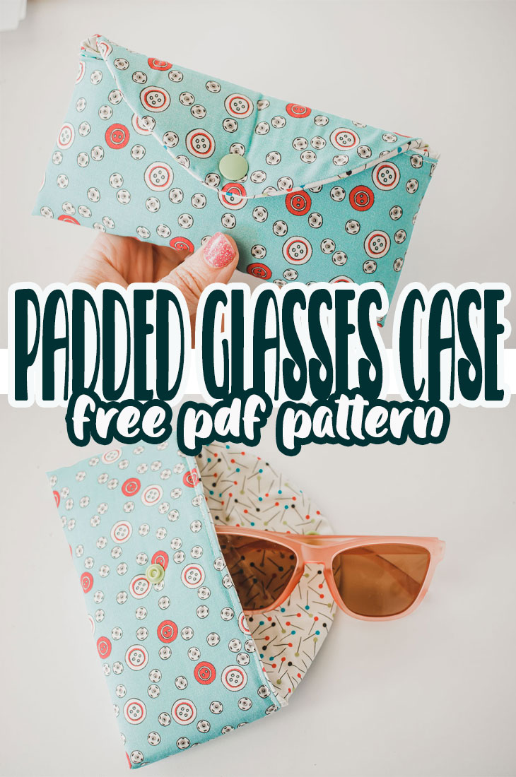 Sew a fun padded classes case with this sewing tutorial and free printable pattern. Keep your sunglasses safe and cozy all summer with this glasses case.