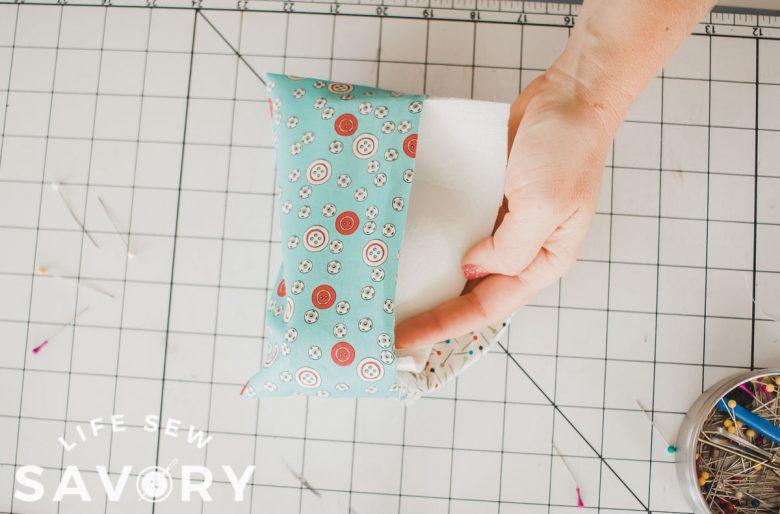 insert foam between the layers