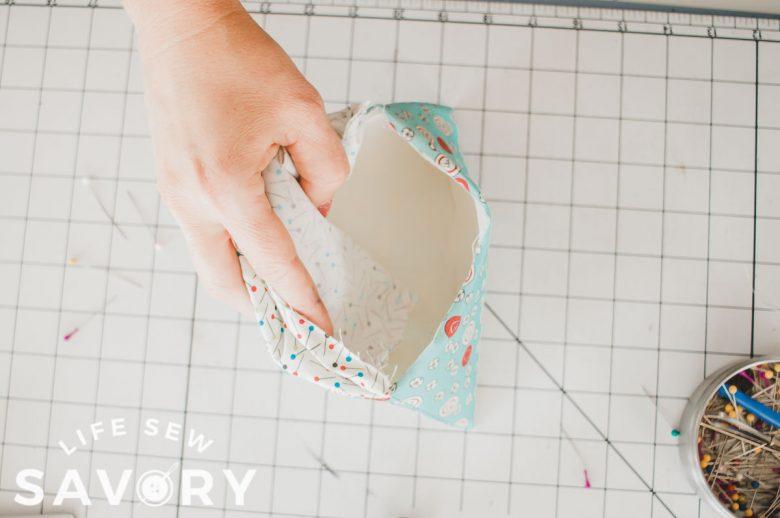 foam inside fabric