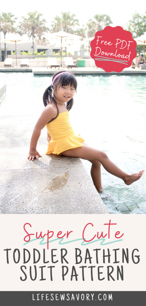 toddler swim suit free sewing pattern from Life Sew Savory