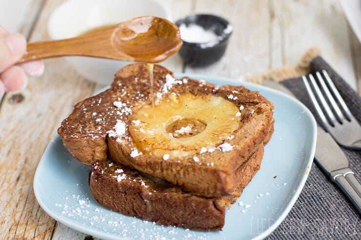 pineapple french toast with fruity flavor