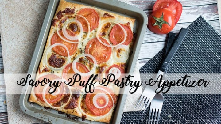 Puff Pastry Appetizers with Tomato and Onion