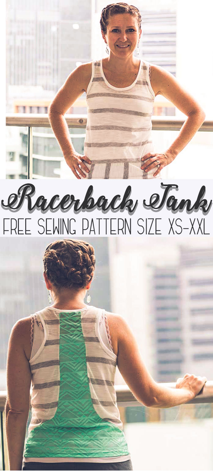 free sewing pattern racerback style free sewing pattern for women sizes xs - xxl from Life Sew Savory