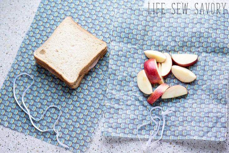 Reusable Food Wraps Beeswax Fabric Life Sew Savory