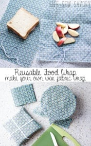 resuable fabric wrap for easy environmentally friendly food storage