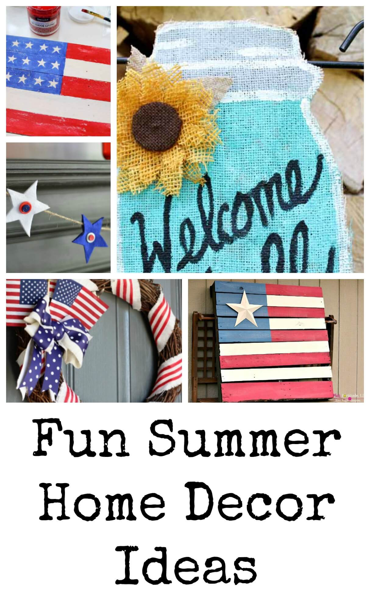 summer home decor from Life Sew Savory