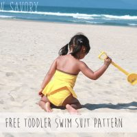 Toddler Bathing Suit Pattern - FREE
