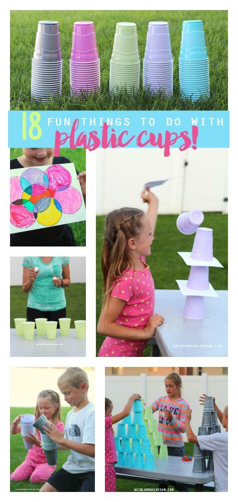 plastic cup fun ideas for kids
