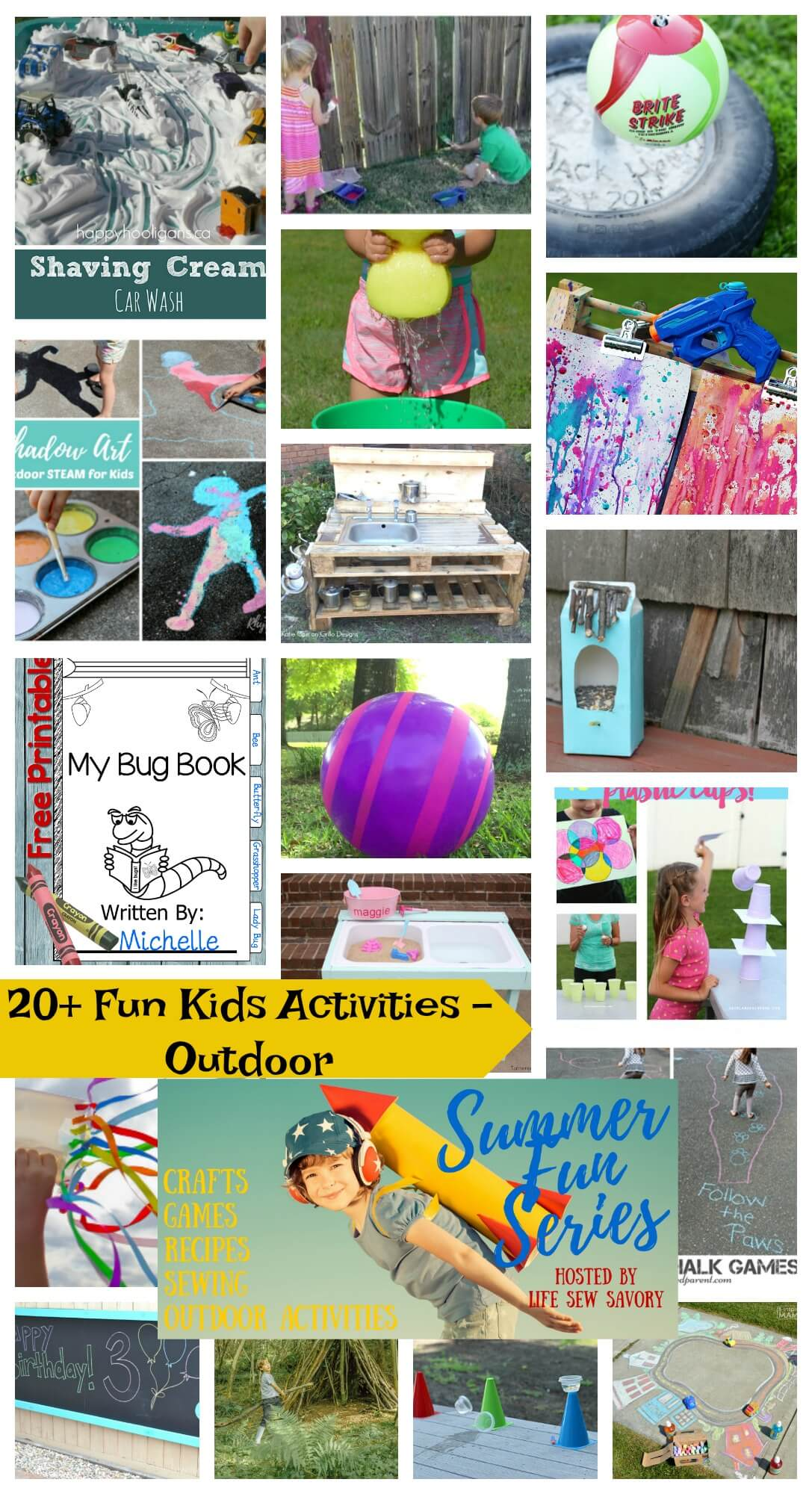 Fun Activities for kids Outdoors fun from Life Sew Savory Summer Fun Series
