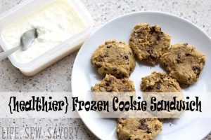 Ice Cream Cookie Sandwich {healthier!} + Yummy Summer Food