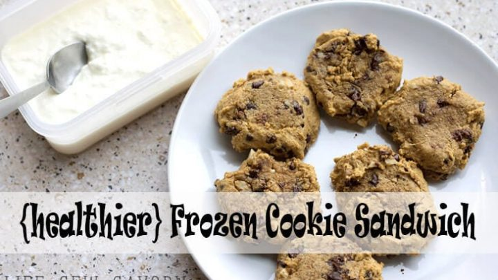 Ice Cream Cookie Sandwich {healthier!} + Yummy Summer Food