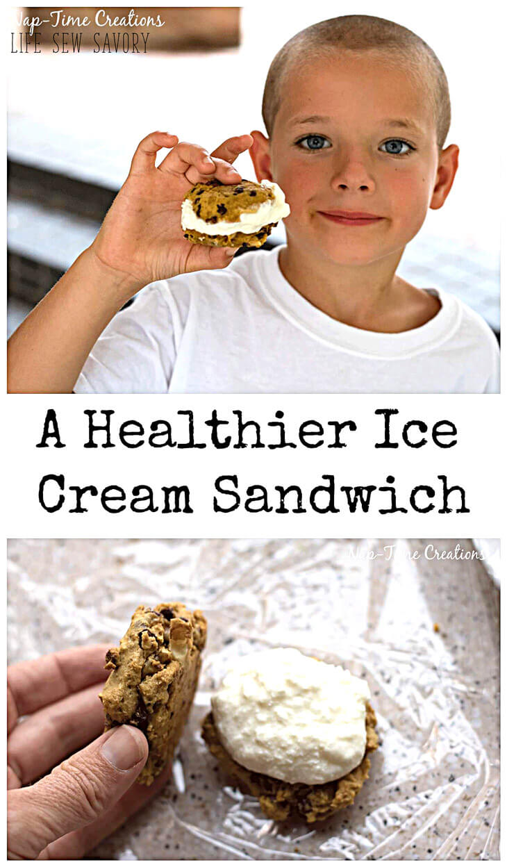 Ice Cream Cookie Sandwich {healthier!} from Life Sew Savory