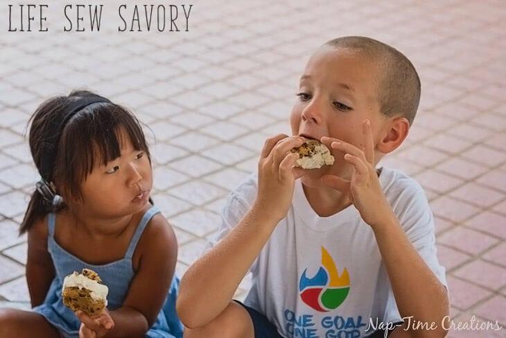 Healthier Ice Cream cookie sandwich