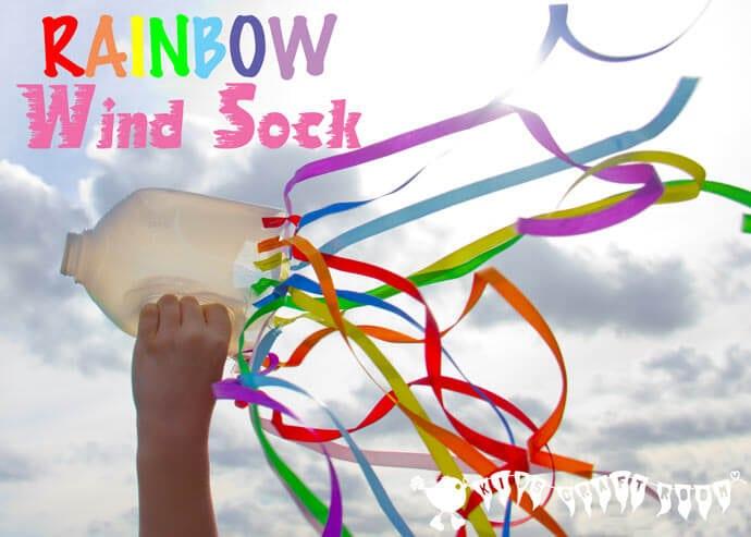 rainbow wind sock