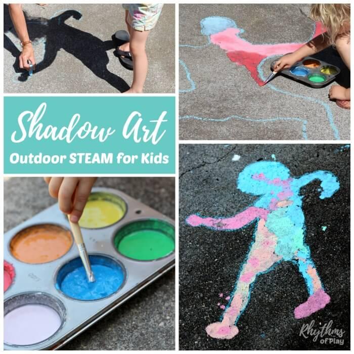 fun activities for kids outdoors shadow art