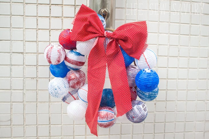 summer wreath - a red white and blue wreath for the 4th of July
