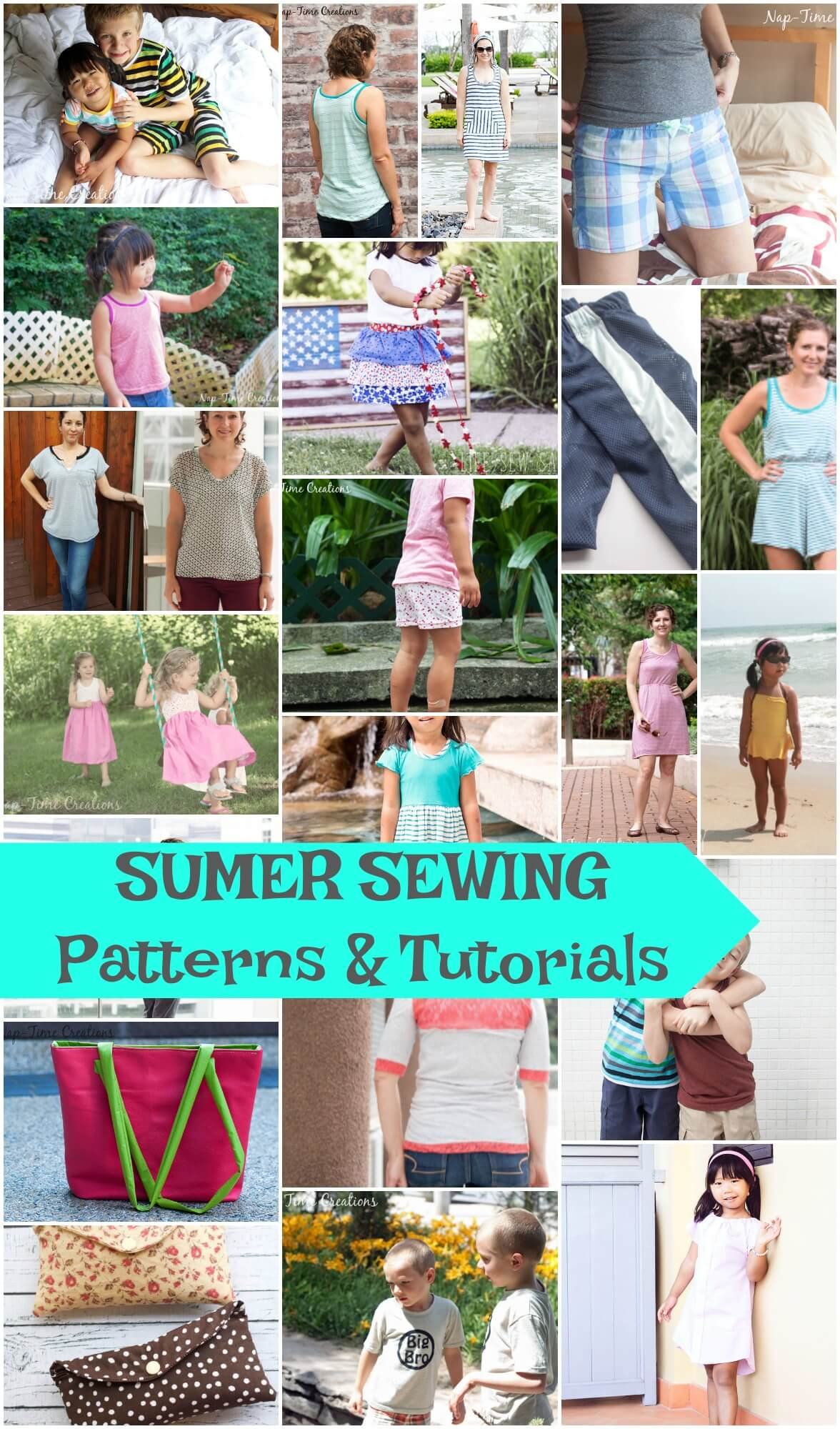 summer sewing projects, tutorials and patterns from LIfe Sew Savory