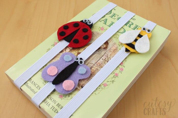 summer kids crafts bug bookmark