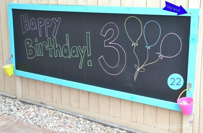 chalkboard outside