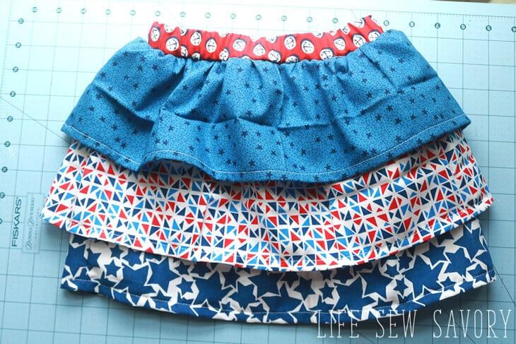 ruffle skirt tutorial step by step