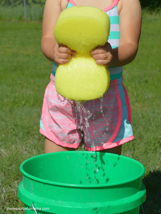 sponge throw games summer fun outdoor activities