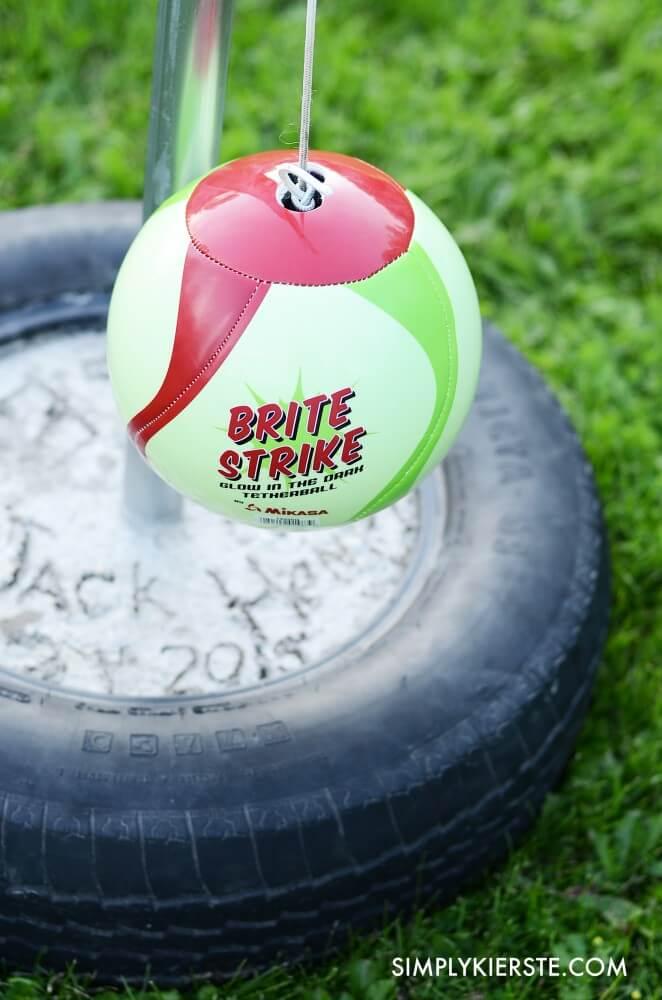 DIY Tetherball Game for backyard fun