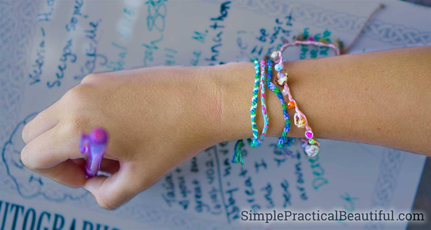 summer fun friendship bracelets