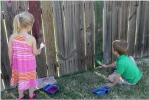 washable chalk paint for summer fun
