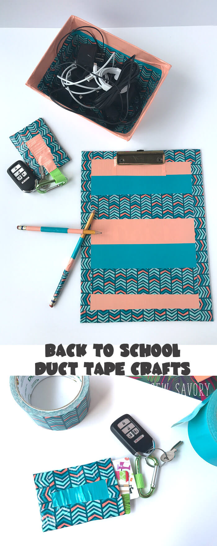 Duct Tape Crafts for back to school - cover all the things from Life Sew Savory