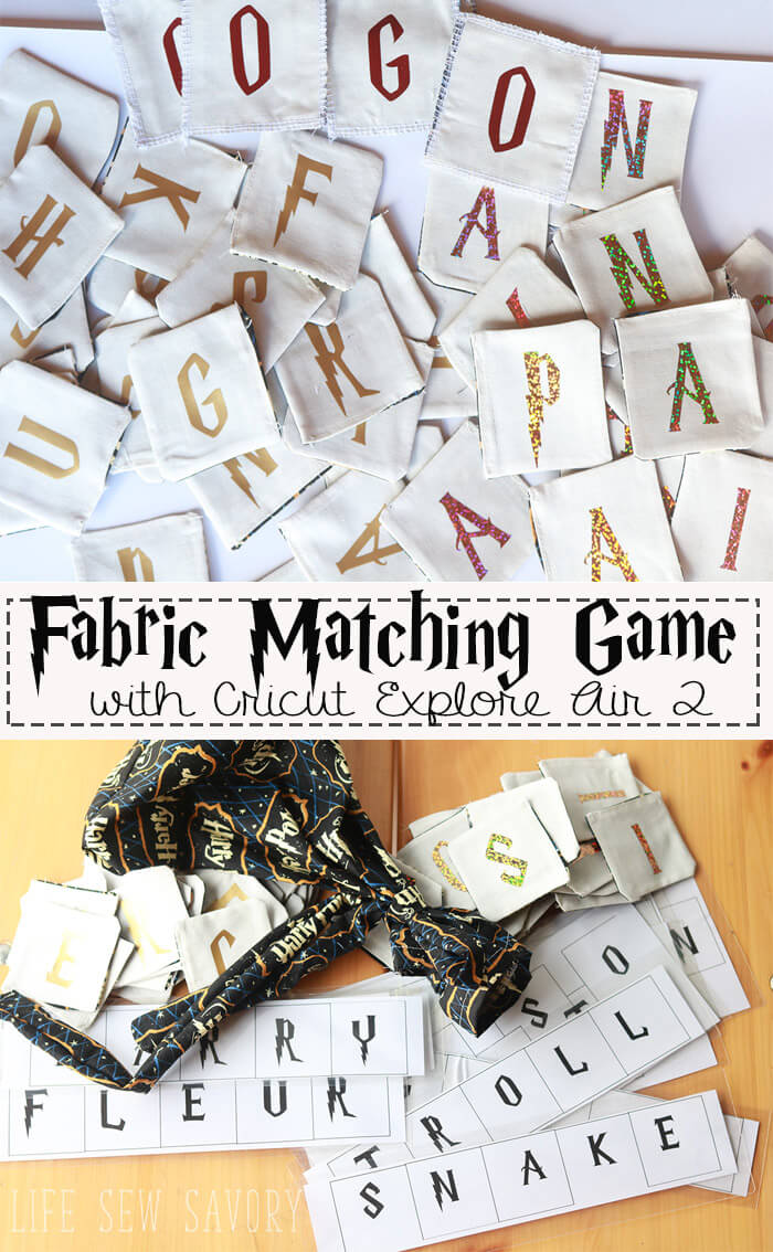 Harry Potter Game---a-fabric-matching-game-from-Life-Sew-Savory--#Cricut-AD